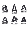 Set of letter A logo templates vector image