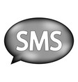 sms sign icon vector image