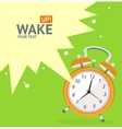 Wake Up Clock Concept Card vector image