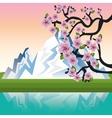 welcome japan mount fuji design vector image