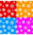 White snowflakes set on different backgrounds vector image