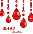 Creative Background for Blood Donation Poster for vector image vector image