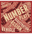 Your Personalised Number Plate Explained vector image