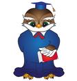 Cartoon bird with book vector image