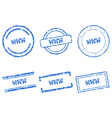 WWW stamps vector image vector image