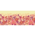 Fall flowers horizontal seamless pattern vector image vector image