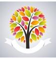 Stylized Autumn Tree vector image