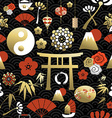 Chinese icon seamless pattern culture element vector image