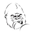 angry gorilla logo vector image