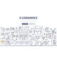 E-comerce Doodle Concept vector image