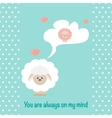 In love Sheep vector image