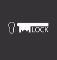 Keyhole and key design logo of real estate agency vector image