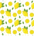 Lemon seamless pattern Lemonade endless vector image