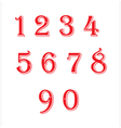 Number red vector image