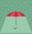 pink umbrella with rain background vector image