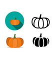 pumpkin icons in flat style vector image