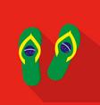 slippers flat cartoon icon brazil vector image