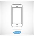 Smartphone line icon vector image