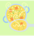 soup of the day vector image