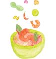 Tom Yum Kung Thai Food vector image