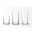 transparent glasses goblets set vector image