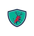 Razorback Antlers Prancing Crest Retro vector image