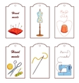 Set of lables for hand sewn vector image