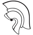 Helmet icon vector image