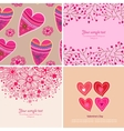 Set of four Happy valentines day backgrounds vector image vector image