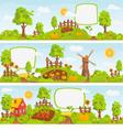 Rural landscapes vector image