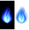 Blue fire background vector image