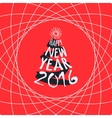 Happy New Year red greeting card template vector image vector image