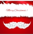 Santa Claus hat and mustache Icon vector image