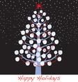 snowball christmas holiday tree vector image vector image