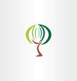 stylized tree icon sign logo element design vector image