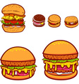 Set of the burgers in vector image