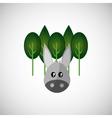 Animal design donkey icon Isolated vector image