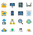 Cloud Service Flat Color Icons vector image
