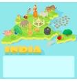 India map cartoon style vector image
