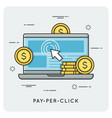 pay per click thin line concept vector image