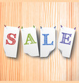 sale paper style labels set vector image