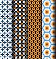 Set seamless geometric pattern vector image
