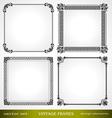 Vintage frames set for design vector image