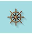 Wheel flat web icon vector image