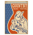 American Country music background retro poster vector image vector image
