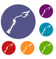 welding torch icons set vector image