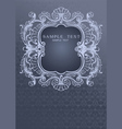 Gray Blue Ornament Cover vector image