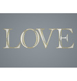 Greeting card with love vector image vector image