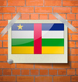 Flags Central African Republic scotch taped to a vector image
