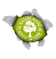ecological organic item vector image